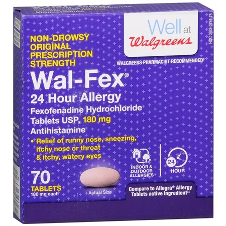 Wal-Fex 24 Hour Allergy Relief Tablets - 3PC by Walgreens