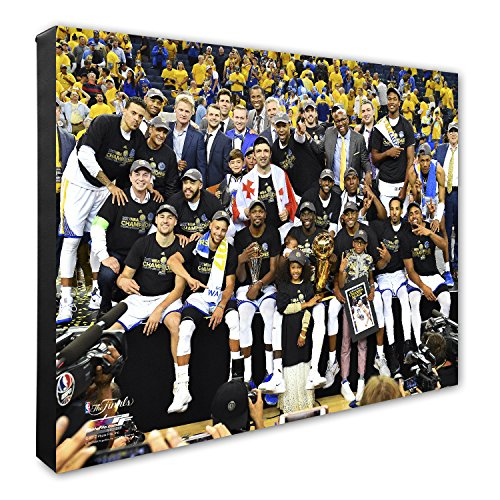 NBA Golden State Warriors 2017 Champions Team Celebration Canvas, 16'' x 20'', Multicolor by Photo File