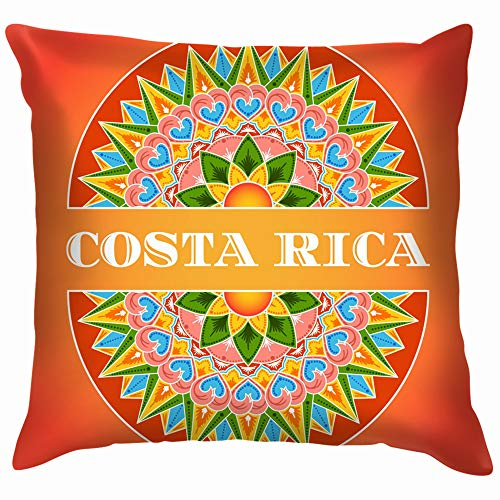 (Costa Rica Traditional Decorated The Arts Holidays Funny Square Throw Pillow Cases Cushion Cover for Bedroom Living Room Decorative 12X12 Inch)
