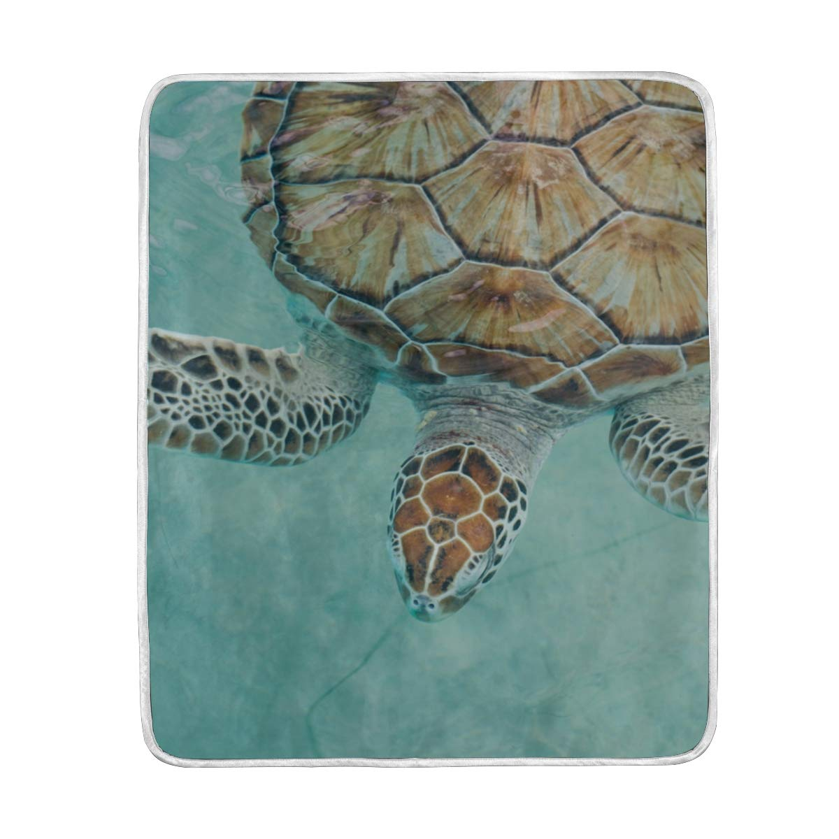 La Random Mexican Sea Turtle Throw Blankets Soft Cozy Blanket for Sofa Couch Bed Polyester Microfiber 50'x60' Air Conditioner Blanket