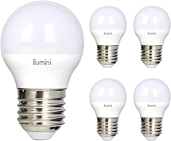 ilumini Bombillas led G45 Esférica, Casquillo E27,5W equivalente a 45w, 6500K Luz Fría, 500 Lúmenes [Clase de eficiencia energética A+] PACK DE 5: Amazon.es: Iluminación