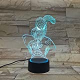 LE3D 3D Optical Illusion Desk Lamp/3D Optical Illusion Night Light, 7 Color LED 3D Lamp, Marvel Comics 3D LED For Kids and Adults, Spider-Man Light Up