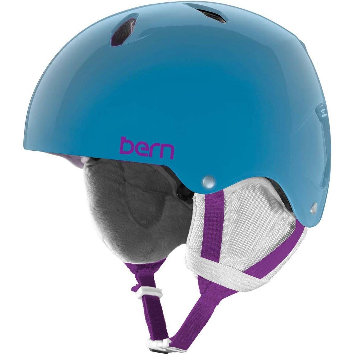 Bern Girls Diabla Helmet (Translucent Blue/Medium)
