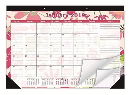 Amazon Com Youngtion Desk Calendar 2019 17 X12 Monthly Desk Pad