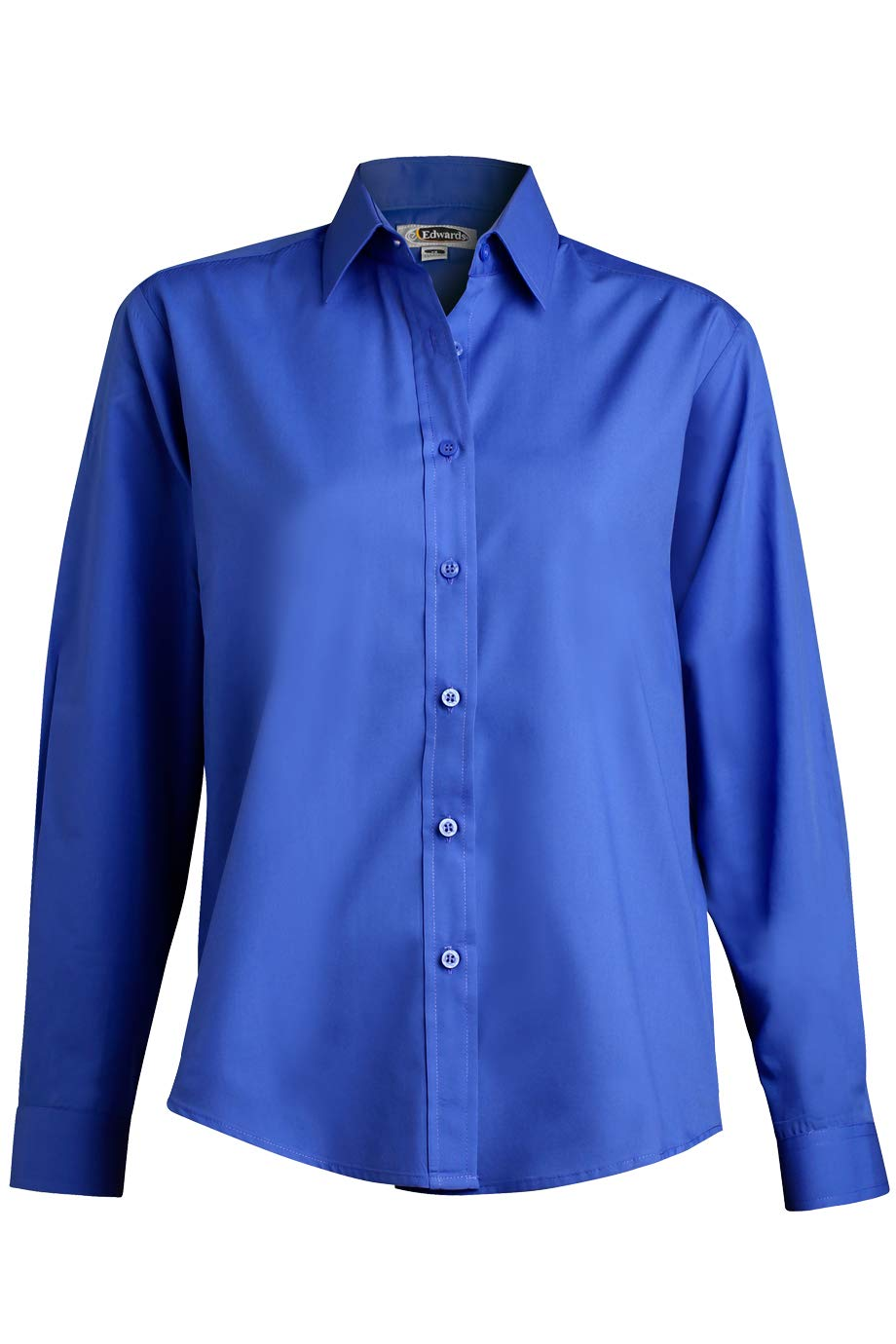 Edwards Ladies' Long Sleeve Value Broadcloth Shirt Large Royal by Edwards