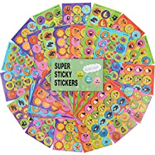 828 Scratch and Sniff Stickers,with 18 Interesting Designs and 9 Different Sweet Smells Have Fun with Your Teachers, Parent, Friends for Reward, Crafts, Motivation-Reward Stickers, 36 Sheets.