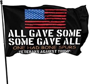 Anti Trump Veterans Against Cadet Bone Spurs Draft Dodger Outdoor Flag Home Garden Flag Banner Breeze Flag USA Flag Decorative Flag 3x5 Ft Flag