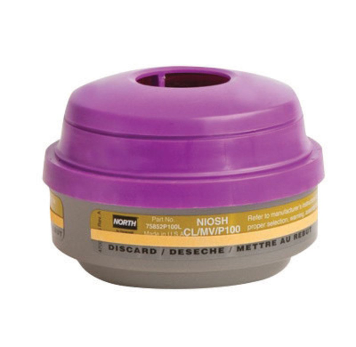 Honeywell 75852P100L Chlorine/Mercury Vapors/Particulate P100 APR Cartridge for 5500, 7700, 5400 and 7600 Series Respirators (1/PK)