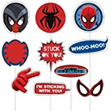 Party Propz Spiderman Theme Photobooth Prop (10 Pieces)