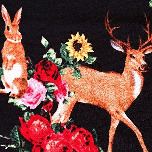 Hell Bunny Hermeline Noir Fox Cerf Imprimé 1960s Rétro Vintage Mini Robe Excellent Qualité