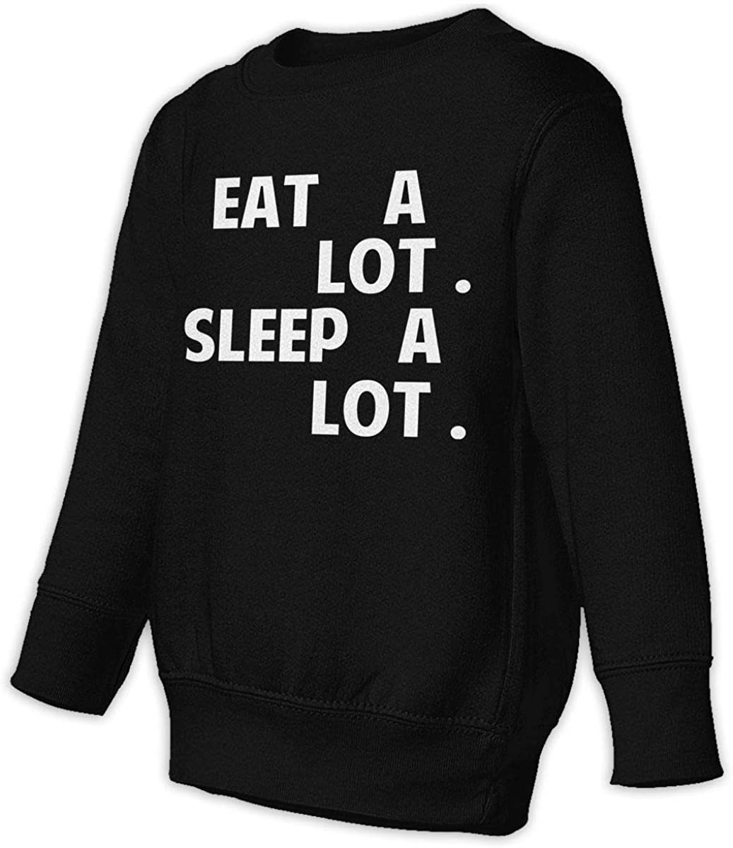 wudici Eat A Lot Sleep A Lot Boys Girls Pullover Sweaters Crewneck Sweatshirts Clothes for 2-6 Years Old Children
