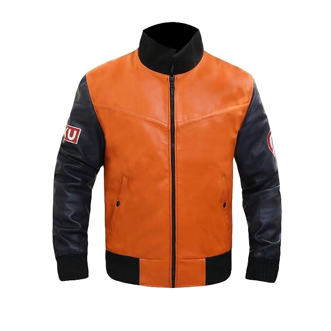 Amazon.com: Leather Estate Dragon Ball Z Goku 59 - Chaqueta ...