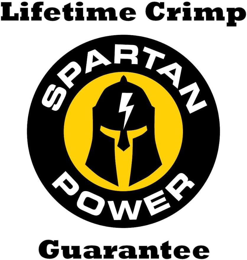 Spartan Power 1 ft 4//0 AWG Gauge Battery Cable Set Made in America Many Lengths of Cables to Choose from