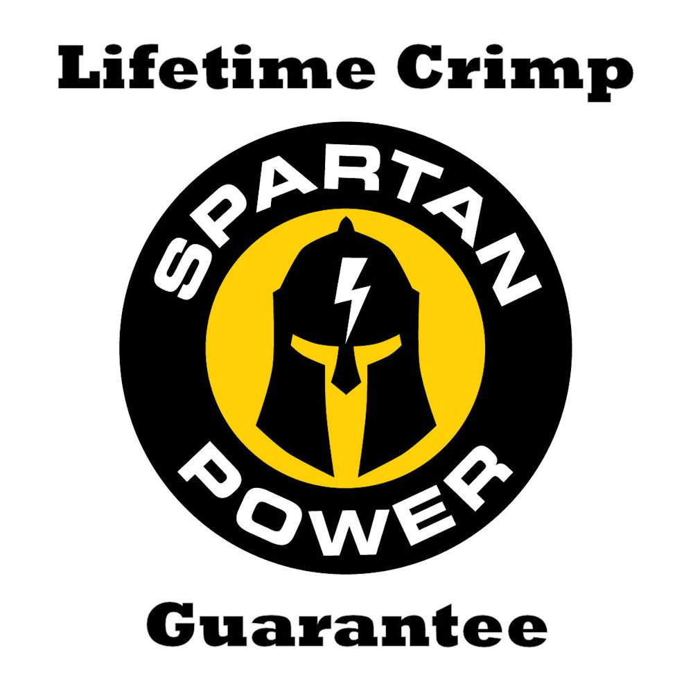 Spartan Power 15 Foot 4 AWG Battery Cable Set Four Gauge Wire Made in America 15FT with 5/16'' Ring Terminals by Spartan Power (Image #6)