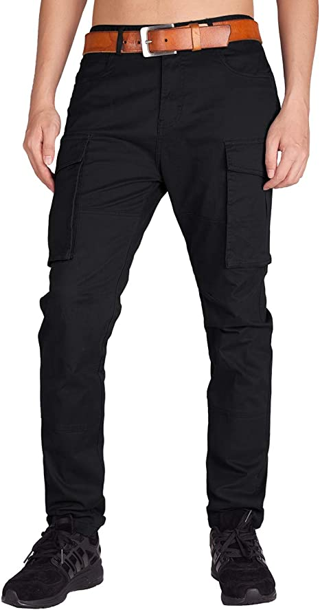 Hot Men Packet Overall Cotton Blend Skinny Military Leisure Cargo Trouser Pant 9