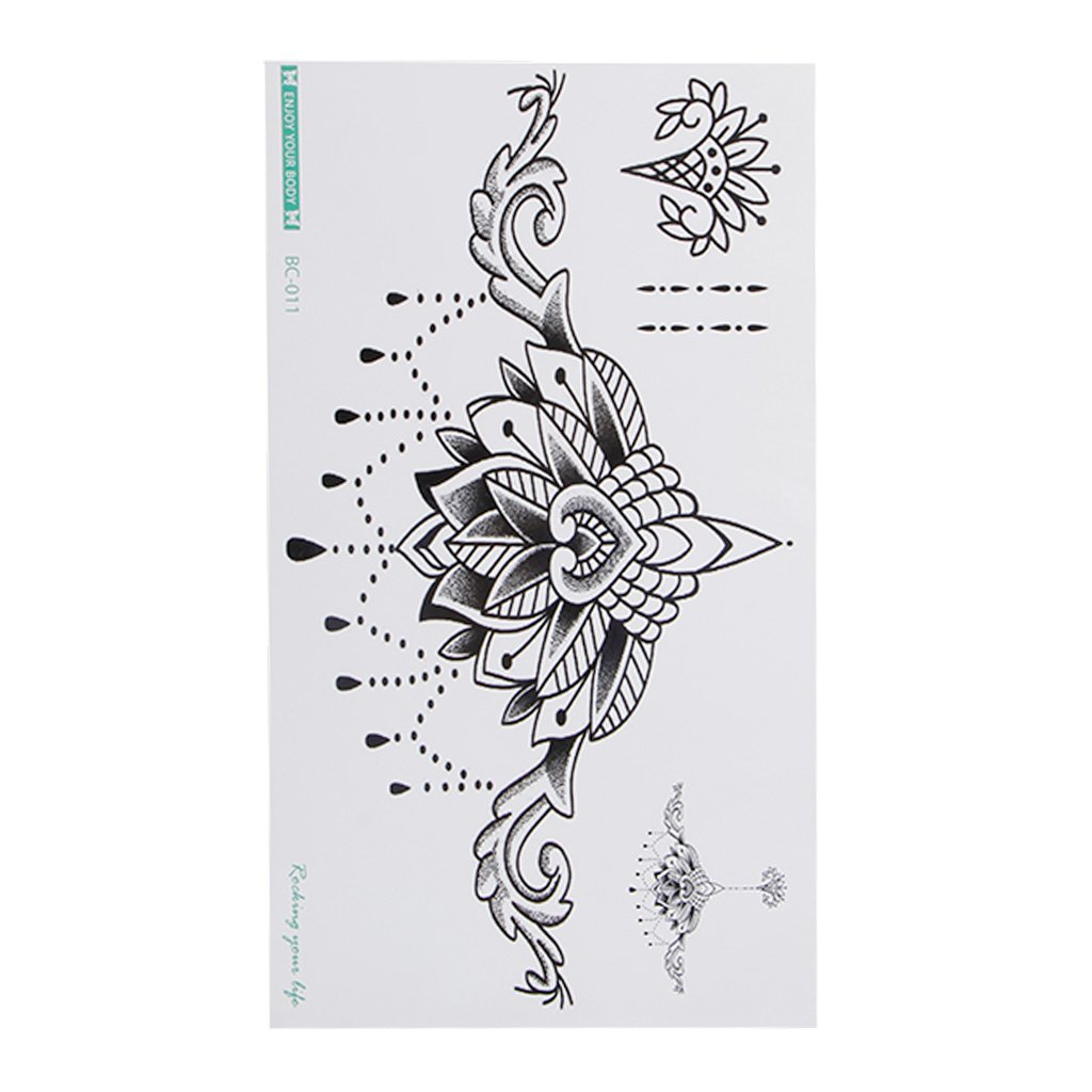 GaoCold Sexy Waterproof Temporary Tattoos Flash Body Sternum Back Paint Flowers Stickers