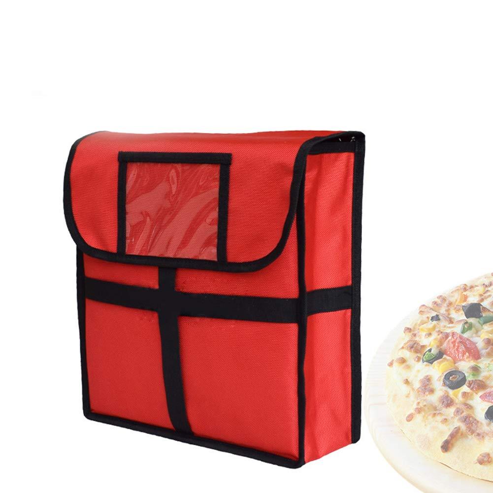 Outtybrave thermique à pizza de 27,9cm Sac Portable Sacs de livraison Isolation Lot 33 * 33 * 11CM Noir
