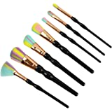 STELLAIRE CHERN 8 Pieces Professional Makeup Brush Set Cosmetic Brushes Kit - Black