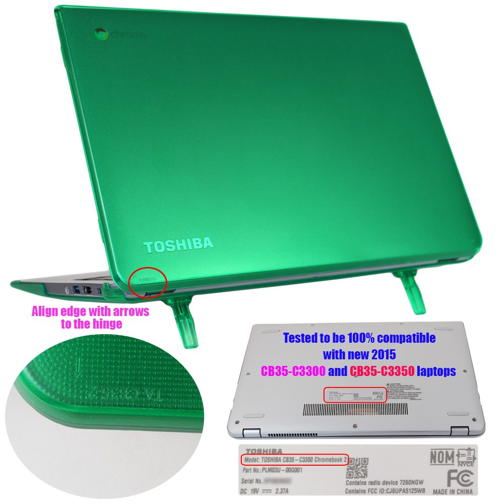 iPearl mCover Hard Shell Case for 13.3-inch Toshiba ChromeBook 2 CB30 / CB35-Bxxxx (2014) and CB30 / CB35-Cxxxx (2015) series Laptop (NOT compatible with OLDER Toshiba CB30 / CB35-Axxxx (2013) series 13.3-inch Chromebook) (Blue) by mCover (Image #5)