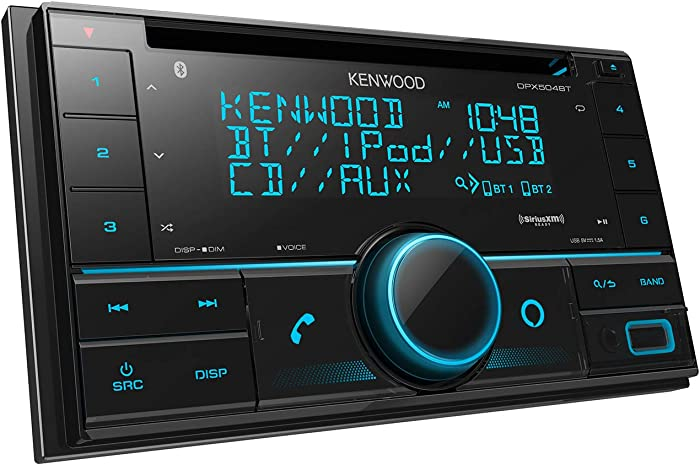 Kenwood DPX504BT Double DIN in-Dash CD Receiver with Bluetooth | Car Stereo CD Receiver with Amazon Alexa Voice Control | High-Contrast 3-line Display with Variable-Color Illumination