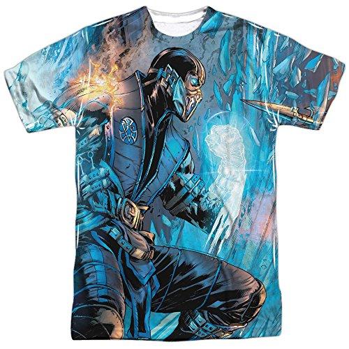 Mortal Kombat- Sub Zero Vs. Scorpion (Front/Back) T-Shirt Size L for $<!--$19.50-->