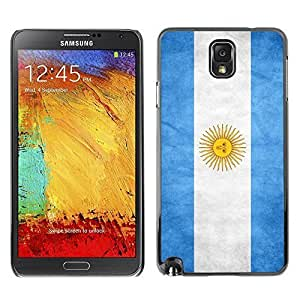 Shell-Star ( National Flag Series-Argentina ) Snap On Hard Protective Case For Samsung Galaxy Note 3 III / N9000 / N9005