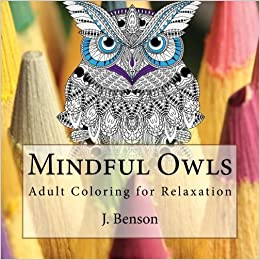 Mindful Owls Adult Coloring For Relaxation Amazoncouk J Benson 9781519699572 Books