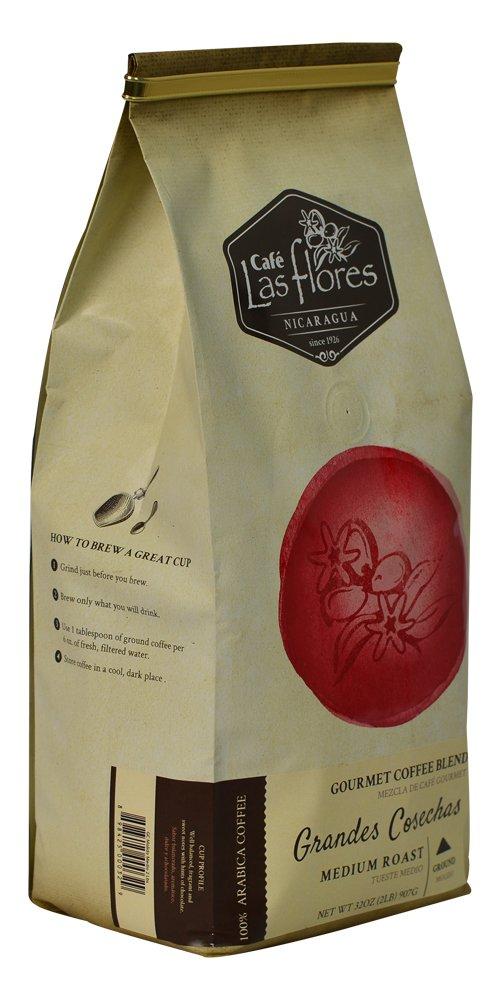 Amazon Com Cafe Las Flores Grandes Cosechas Espresso Roast Ground