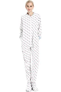 e94a576478 Funzee Adult Onesie Pjs Footed Pajamas Striped Playsuit Jumpsuit XS ...
