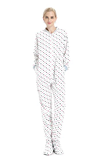 6a94228a61bf Amazon.com  Calagly Hooded Footed Adult Onesie One-Piece Pajamas ...