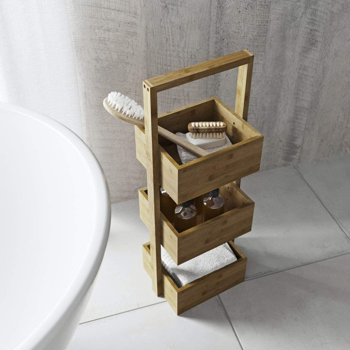 Accents Bamboo 3 tier storage unit