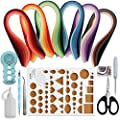 Juya Paper Quilling Kits with 30 Colors 600 Strips and 8 Tools by JUYA