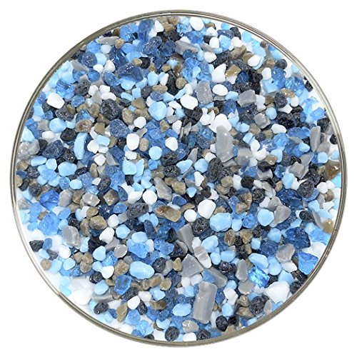Deep Blue Sea Designer Collection Coarse Frit Mix - 4oz - 96COE - Made From System 96 (Spectrum System 96 Glass)