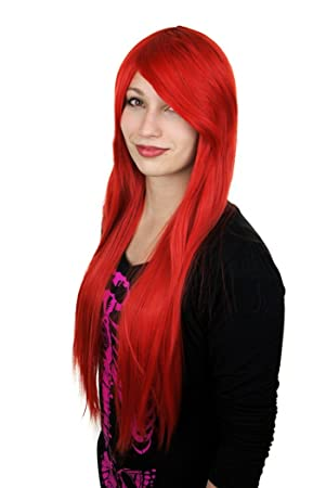 Cosplay Cosplayland C614-80cm long straight Party heat-resist Wig - Red (peluca