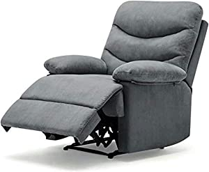 Pawnova Wing Back Massage Recliner Chair, Adjustable Home Theater Seating, Soft Padding Single Sofa for Living Room,Gray