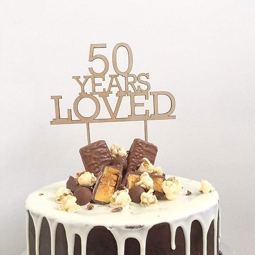 Decoración personalizada para tarta de 50 años de 50 años ...