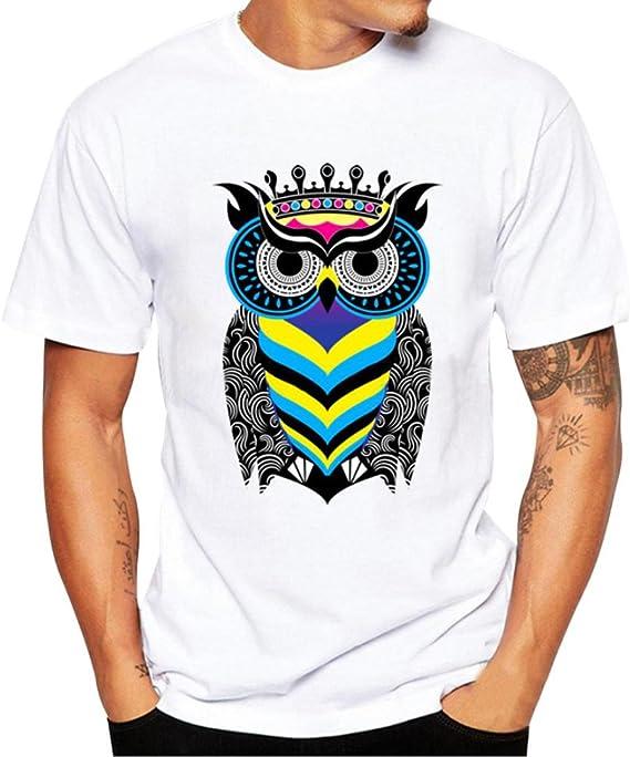 Camisa de manga corta para hombre, diseño de águila de ...