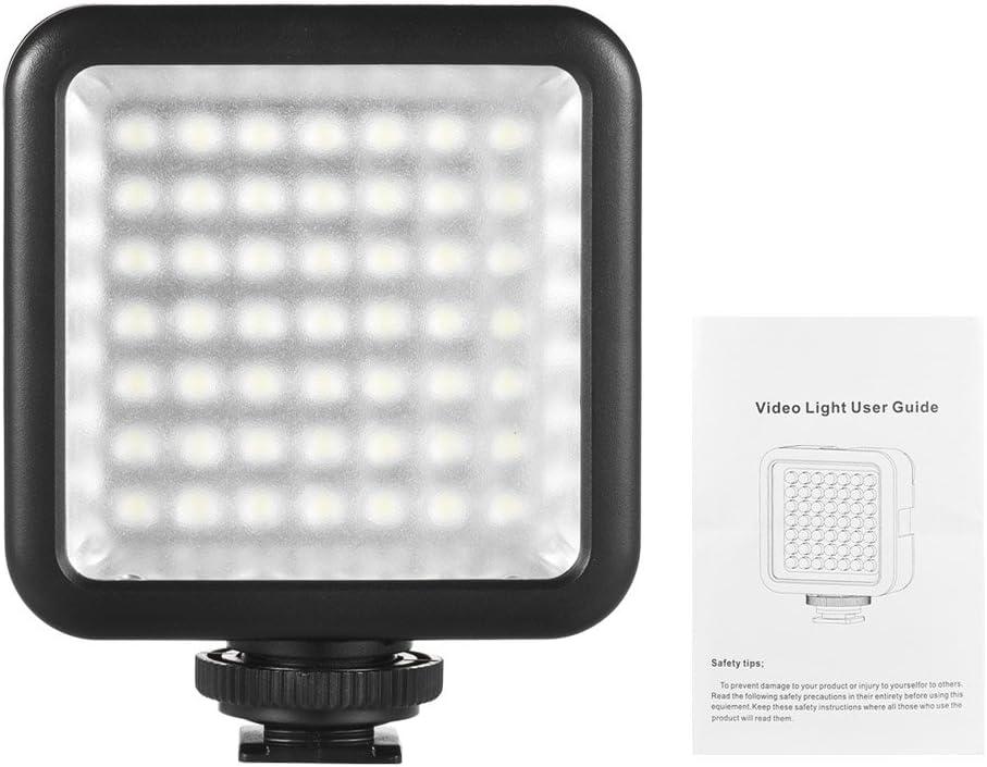 LED Mini Interlock Kameralicht Dimmbare Camcorder Video Beleuchtung mit Shoe Mount Adapter f/ür Canon Nikon Sony A7 DSLR LED Panel Licht Andoer 49 Led Video Light