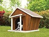 dog house ac - 1PerfectChoice Rylee Country Log Cabin Dog House Outdoor Pet Shelter Cage Kennel Cream & Oak
