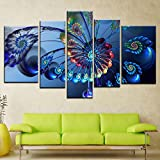 5 Pieces Oil Painting Canvas Prints Movie Stars American Heros Batman Deadpool Wall Art Pictures