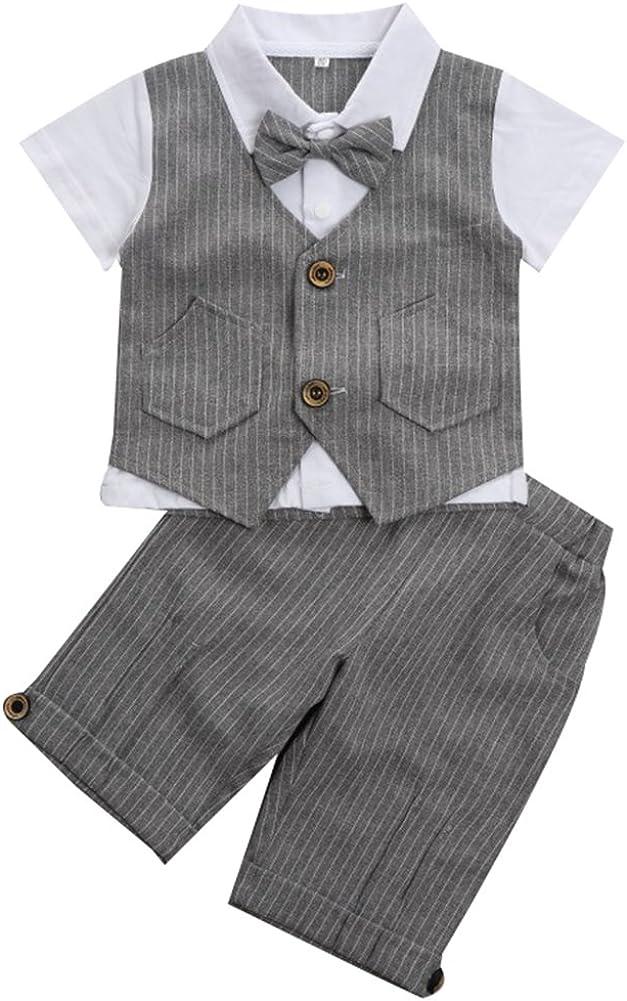 0-3 Jahre mintgreen Zwei St/ück Baby Jungs Herren Anzug S/äuglings Outfit Sets Kurzarm mit Hosen