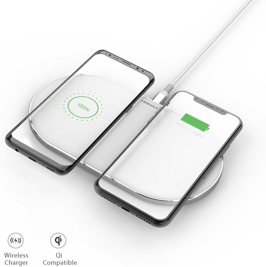 Momax Dual Double Qi Wireless Charging Pad 20 W Fast Elektronik