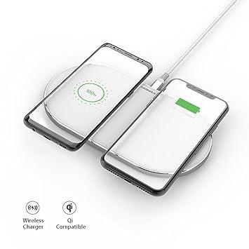 MOMAX Dual - Cargador inalámbrico para iPhone X, iPhone 8 ...