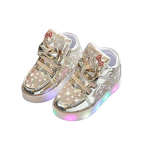 premium selection 986c1 c3380 Heligen LED Schuhe Kinder Beleuchtete Freizeitschuhe Mädchen Schuhe Hell  Hallo Kitty Kinder Schuhe Mit Licht Nette Baby Mädchen Stiefel