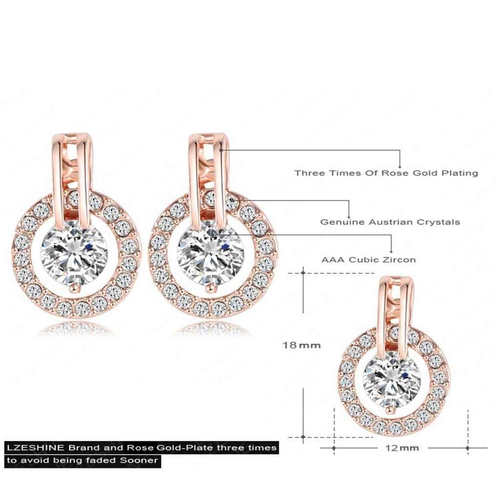 set di orecchini e orecchini con strass in cristallo color oro Bobury Set di gioielli da sposa da donna