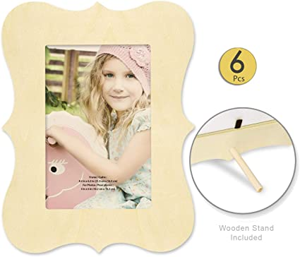 2 Sets Unfinished Wooden Frame Kits for DIY Picture and Photo Frame Making