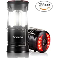 2-Pack Snorda Portable Lantern Water Resistant SOS LED Flashlight