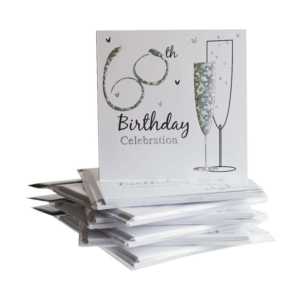 60th Birthday Party Invitations {Holographic} 36 Multipack Cards With Envelopes Simon Elvin