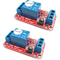 HiLetgo 2pcs 5V One Channel Relay Module Relay Switch with OPTO Isolation High Low Level Trigger