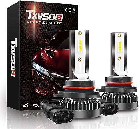 60W 10000 Lumens Super Bright LED Headlights Conversion Kit 6500K Cool White IP68 Waterproof Fahren 9006//HB4 LED Headlight Bulbs